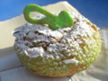 [鹿島アントラーズ][食べ物]いばらぎ観光物産展で食べた、メロンシュークリーム