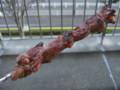 [鹿島アントラーズ][食べ物]ハム焼き。(2009年11月28日)