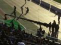 [フットボール]国立競技場にて、クレーンカメラ