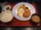 フライ定食(コロッケ、海老コロッケ、白身魚のフライ)