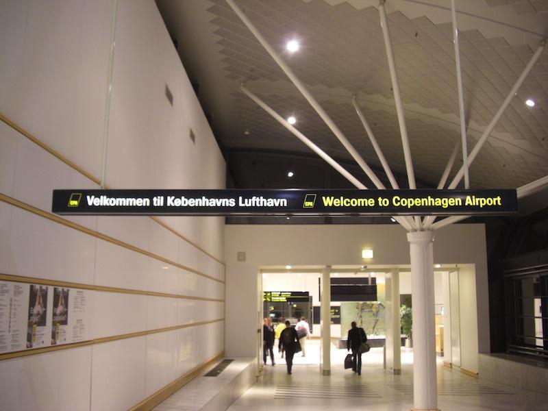 コペンハーゲン空港到着