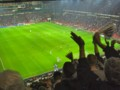 [デンマーク][フットボール]得点に沸くスタジアム