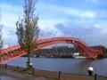 [風景写真][オランダ]アムステルダムのアナコンダ橋