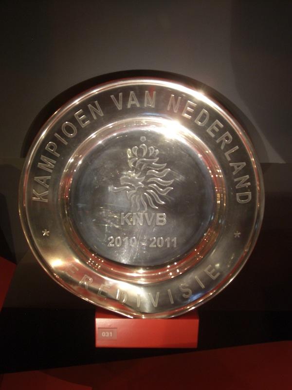 2010/11シーズンでアヤックスがリーグ優勝した時に獲得したシャーレ