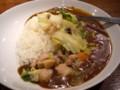 [カレー]鶏肉と茹で野菜のカレー