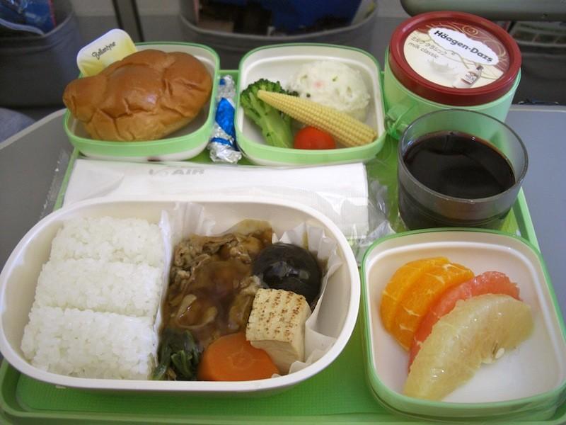 エバー航空の機内食