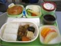 [台湾][乗り物][食べ物]エバー航空の機内食