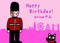 [お祝い][お絵描き]ロンドンの風景と衛兵