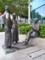 シンガポール川沿いの銅像