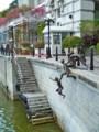 [シンガポール][静止物]シンガポール川沿いの銅像