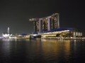 [シンガポール][風景写真]シンガポール・フライヤーとマリーナ・ベイ・サンズ