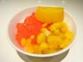 [シンガポール][食べ物]マンゴープリンが載っているかき氷