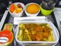 [乗り物][食べ物]キャセイ・パシフィックシンガポール発香港行きの機内食