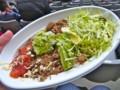 [フットボール][食べ物]味の素スタジアムのTaco Derioのアボカドタコライス