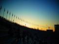 [風景写真]国立競技場で黄昏