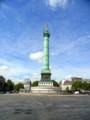 [風景写真][フランス]バスティーユ広場の7月革命の記念柱