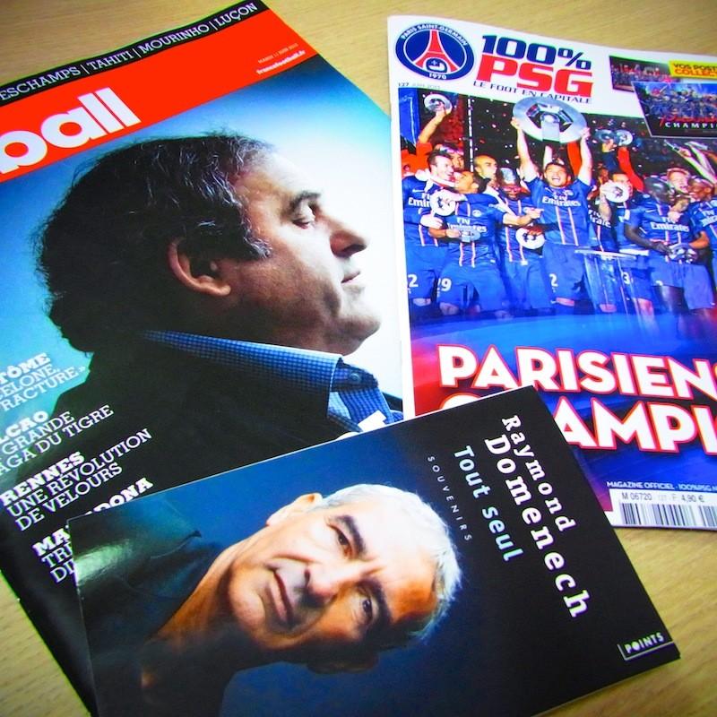 フランス・フットボール紙、PSG月刊誌、ドメネク元監督自伝