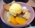[食べ物]さつま芋と白玉のクリームあんみつ