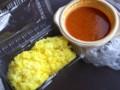 [フットボール][食べ物]サマナラのサフランライスとチキンキーマカレー