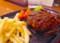 きのこデミグラスソースのビーフ100%ハンバーグ