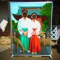 [風景写真]鹿島神宮の顔出し看板