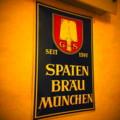 [風景写真]ドイツビール、Spatenbräuの看板
