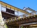 [風景写真]彦根城の天秤櫓と廊下橋