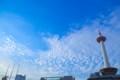 [風景写真]京都タワーと雲