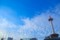 京都タワーと雲