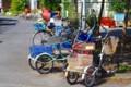 [風景写真]沖島の二輪三輪車