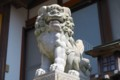 [風景写真]奥津嶋神社(沖島)の狛犬