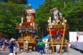 [風景写真]鹿島神宮の大鳥居竣工祭で登場した山車