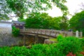 [風景写真]水口城趾の橋