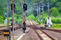 [風景写真]単線の線路