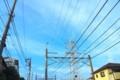 [風景写真]空と高架線