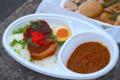 [フットボール][食べ物]YASSの角煮カレー