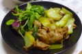 [食べ物][自炊]豚バラ肉と青梗菜のポークジンジャー