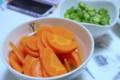 [食べ物][自炊]人参のレモン煮とオクラのガラスープの素和え