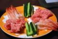 [食べ物][自炊]手巻き寿司(の黄瓜、なかおち、甘エビ)