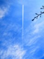 [風景写真]飛行機雲