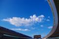 [風景写真]ヤンマースタジアム(長居スタジアム)と空