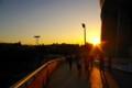 [風景写真]ヤンマースタジアム(長居スタジアム)の夕焼け