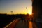 ヤンマースタジアム(長居スタジアム)の夕焼け