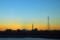 黄昏(富士山と東京スカイツリー)