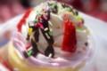 [鹿島アントラーズ][食べ物]幸鹿堂のいちごパフェ
