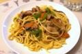 [食べ物][自炊]豚バラ肉と夏野菜のパスタ