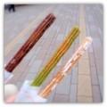 [食べ物]チュロス(ココア味、抹茶味、シナモン味)