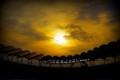 [風景写真]カシマスタジアムと夕陽