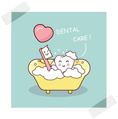 歯をきれいにするイラスト