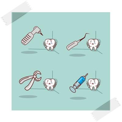 歯の治療イラスト